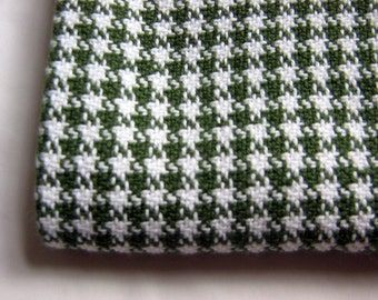Houndstooth Dish Towels -Green and White