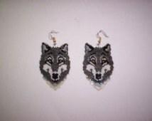 Vertical Brick / Peyote Wolf Delica Seed Beads Beading PDF E-File Earring / Pendant Pattern-59