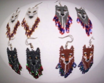 Brick Stitch 4 Wolf Brothers Delica Seed Beading Fringe Earring PDF E-File Patterns-83