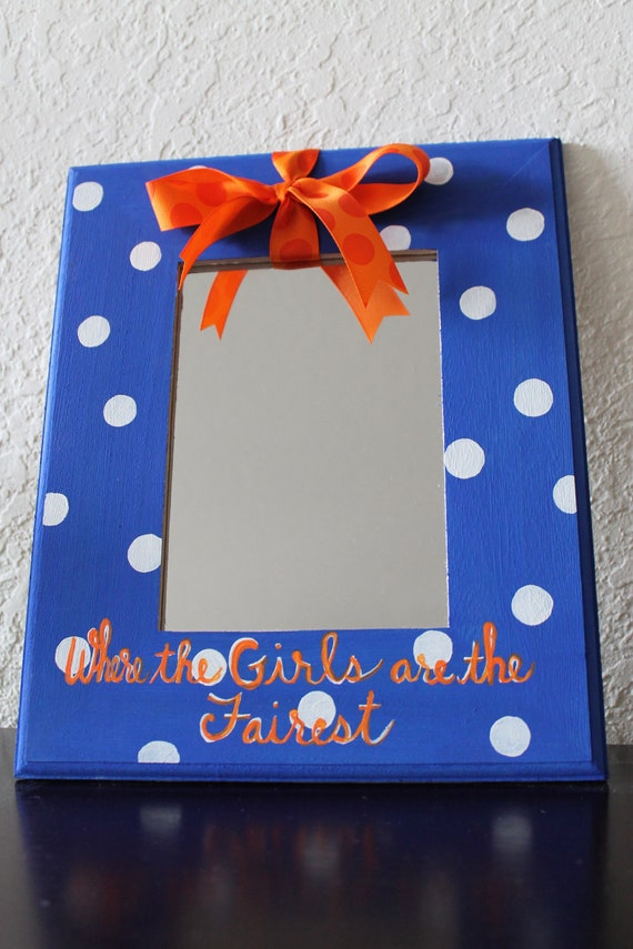 "Florida Gators ""Where the Girls are the Fairest""  Dots Hanging Mirror"