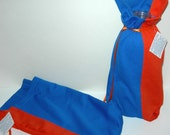 Orange and Blue Wine Bag or Gift Bag