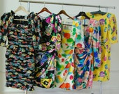 Ungaro Parallele Couture Chic Vintage Retro 80s Cruise Wardrobe Dress Lot Size 2 4 6 XS S