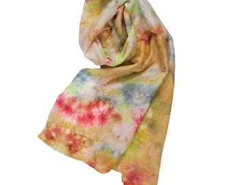 Hand Dyed Silk Scarf: Colors from the Rainbow