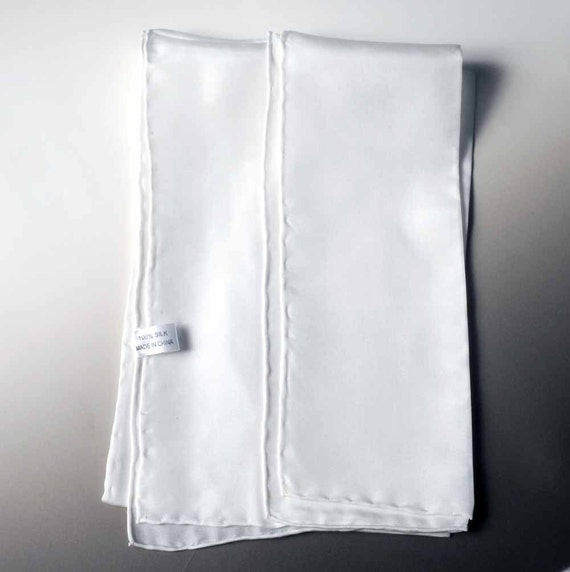 White Silk Scarf Blank Habotai 8 mm 11 x 60 by stockwellcottage Blank Silk Scarves For Painting