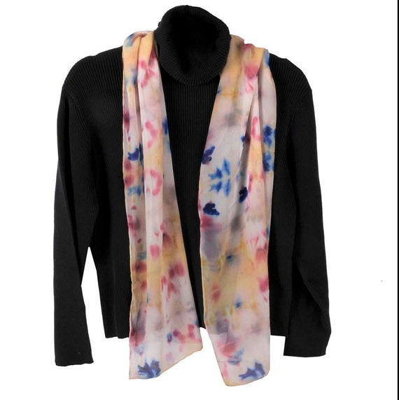 Celebration Hand Dyed Silk Chiffon Scarf