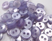 50 Tiny Lilac Doll Buttons