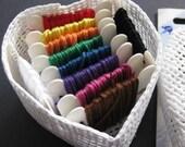 Heart Shaped Embroidery DIY Aida Gift Box