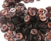 50 Tiny Dark Brown Buttons