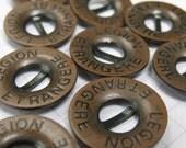 10 Copper Legion Etrangere Buttons