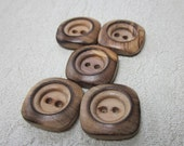Medium Square Wood Buttons