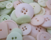 50g Mixed Pastel Yellow Green Orange Buttons