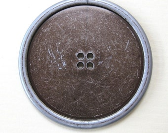 Large Faux Steel Button