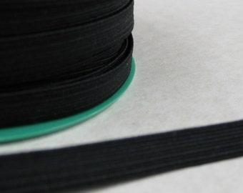 5 metres 8mm black elastic