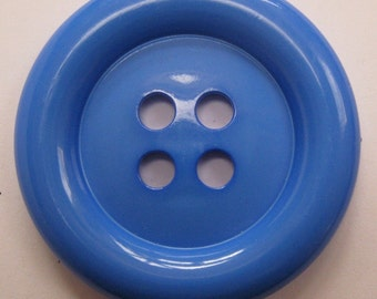 Royal Blue Button 2 Inches