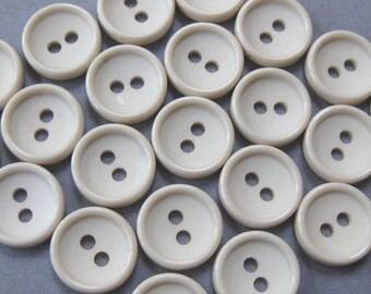 25 Cream Buttons