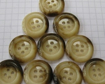 10 Glossy Fake Bone Buttons