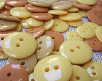 Mixed Size Yellow Orange Buttons