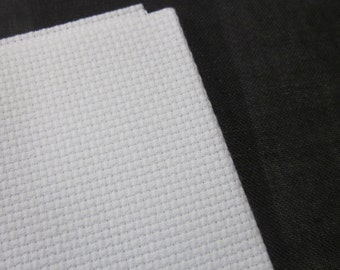 White Aida Fabric 16 Count, 12 x 18 inches