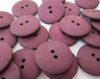 Plain Dark Wine Red Buttons 20mm 24 pieces