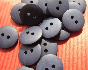 48 Small Plain Navy Blue Buttons