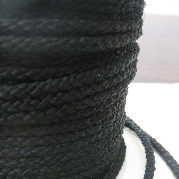 4mm lacing cord in black