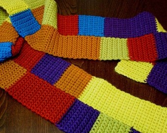 Set of 3 Colorful Scarves Instant Download PDF Easy Fast Crochet Pattern