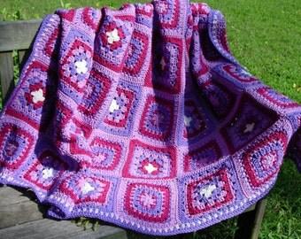 Crochet Pattern Purple Mountains Majesty Afghan Instant Download PDF Crochet Pattern