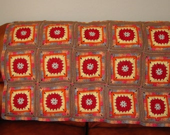 Desert Sunset Afghan Instant Download PDF Crochet Pattern