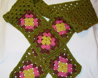 Crochet Pattern Granny's Scarf Instant Download PDF Crochet Pattern Fast Easy