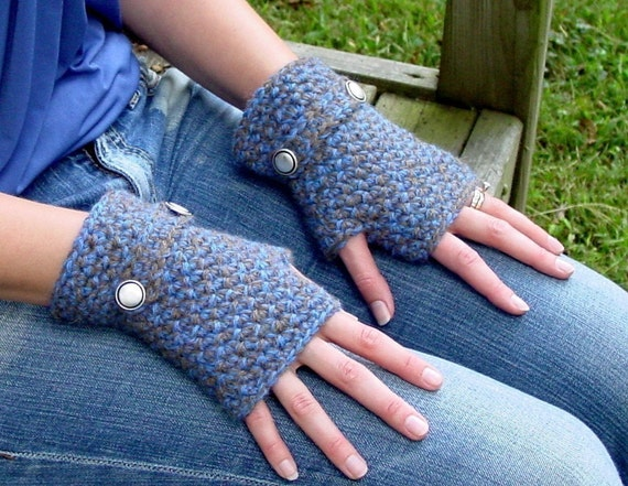 Christina Soft Alpaca Fingerless Gloves Instant Download PDF Crochet Pattern