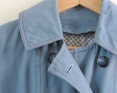 SALE was 27 - GRAY SKIES ARE GONNA CLEAR UP Baby Blue Rain Coat with Polka Dot Lining