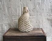 FINE ART OF MACRAME - Vintage Rope Wrapped Glass Jug