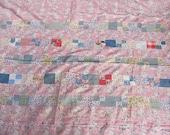 SALE // vintage c. 1930s-1940s Depression Era quilt top