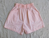 vintage 1980s paper bag waist shorts // Just Peachy