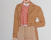 vintage 1930s french fashion lithograph book plate no. 6 // folk costume