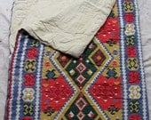 RESERVED for Alley // vintage c. 1960s-1970s sleeping bag with Navajo-inspired print