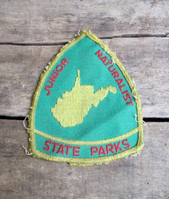 vintage c. 1960s-70s JUNIOR NATURALIST patch // West Virginia