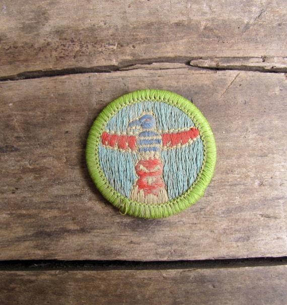 vintage c. 1960s Boy Scout badges // Totem Pole