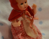 SALE     Miniature Red Riding Hood Doll