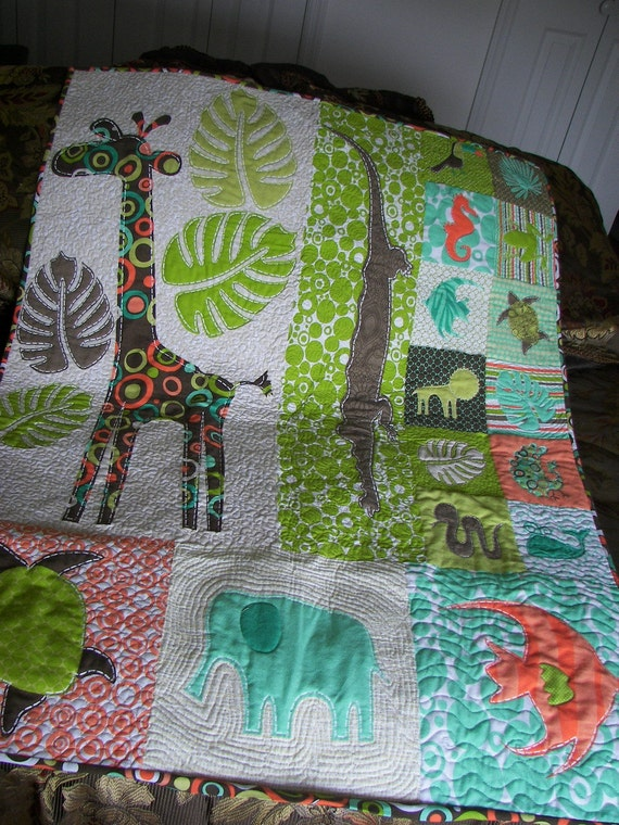 Tropical Hawiian Baby/Toddler Quilt