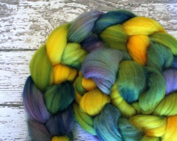 Superwash Merino Wool Roving, 70s Will Never Dye, 4 oz