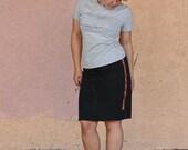 RESERVED LISTING  Pencil Skirt -- Industrial black denim