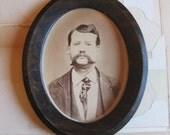 framed vintage gentleman