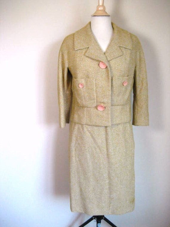 RESERVED for Richeille-pls do not purchase-Vintage 2pc Tweed Jacket and Skirt Set- Size M