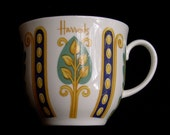 HARRODS of KNIGHTSBRIDGE Souvenir Fine China Coffee Cup Made in England by Royal Crown Duchy
