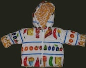 very hungry caterpillar 18-24 months reversible thermal toddler jacket