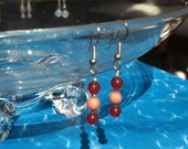 Rosy Posy beaded earrings by menacing pickle