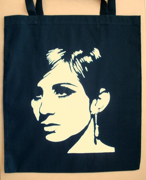 Barbra Streisand Black And White Tote Bag Pop Art