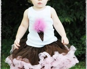 Ice Cream Birthday Tank Shirt Photography Prop