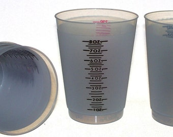 10 ounce Reusable Plastic Measuring Resin jewelry making mixing cups Mixing - QTY 10